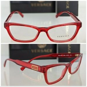 New Authentic Red Versace Eyeglasses MOD. 3275
